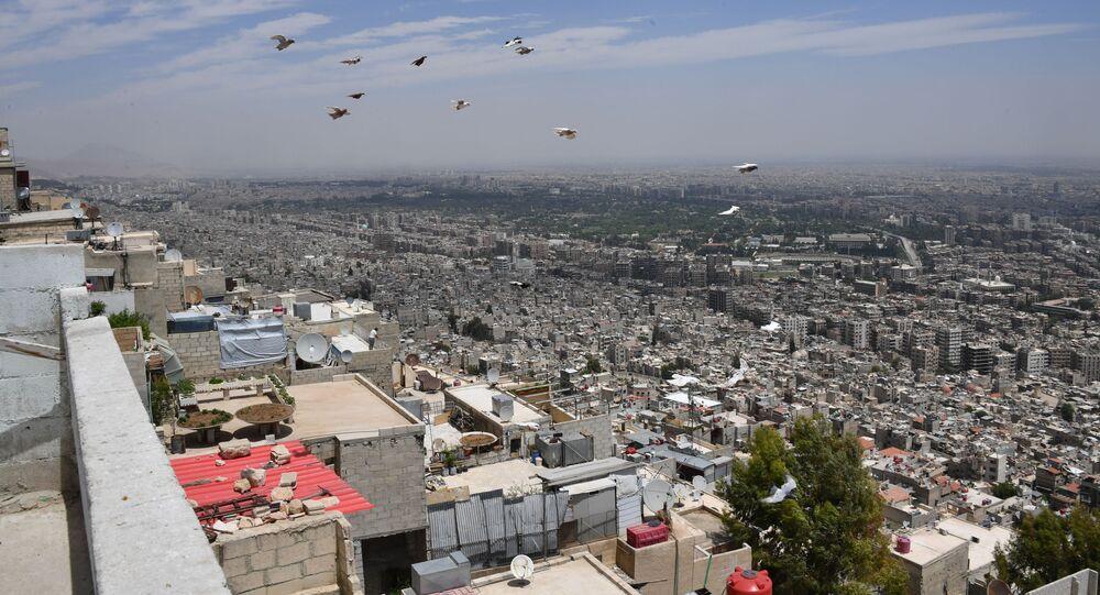Widok na Damaszek z góry Kasjun