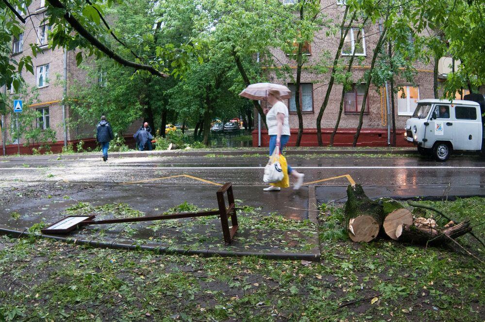 Po ulewie w Moskwie.