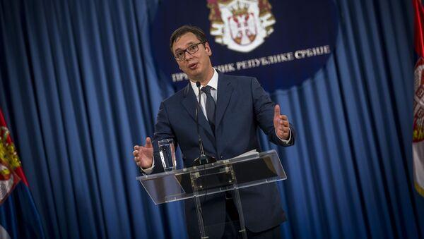 Prezydent Serbii Aleksandar Vučić - Sputnik Polska