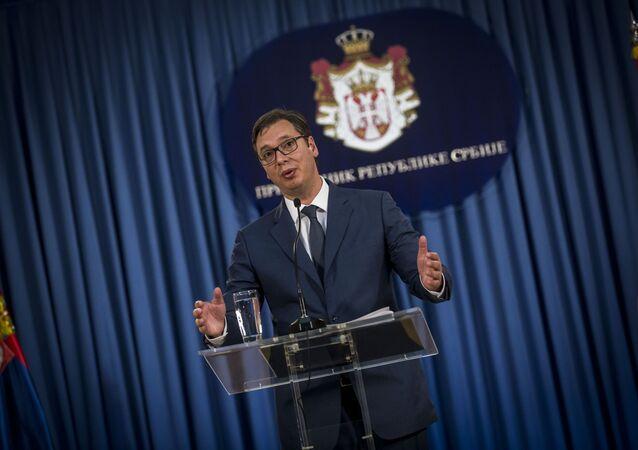 Prezydent Serbii Aleksandar Vučić