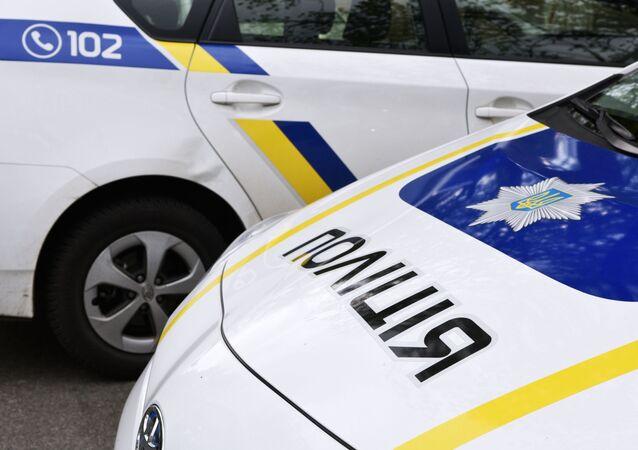 Samochód pracowników ukraińskiej policji