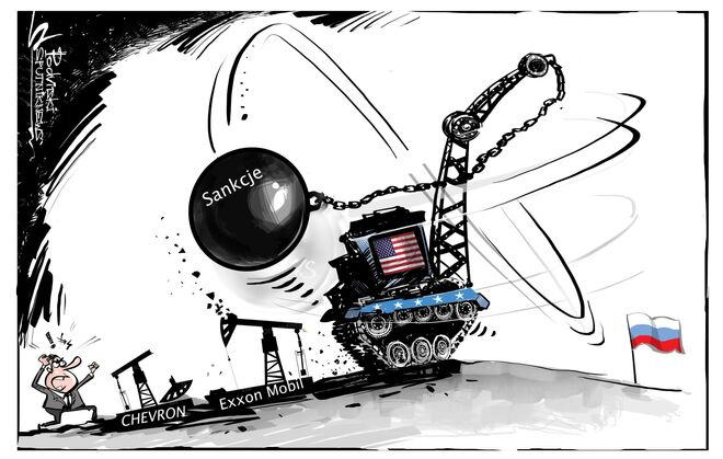 Giganci naftowi są zaniepokojeni zaostrzeniem sankcji przeciwko Rosji