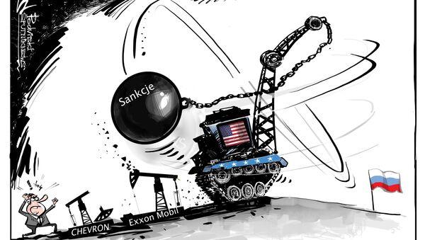 Giganci naftowi są zaniepokojeni zaostrzeniem sankcji przeciwko Rosji - Sputnik Polska
