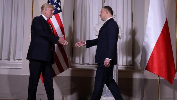 Andrzej Duda i Donald Trump - Sputnik Polska