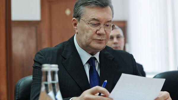 Były prezydent Ukrainy Wiktor Janukowycz w Rostowskim Sądzie Obwodowym - Sputnik Polska