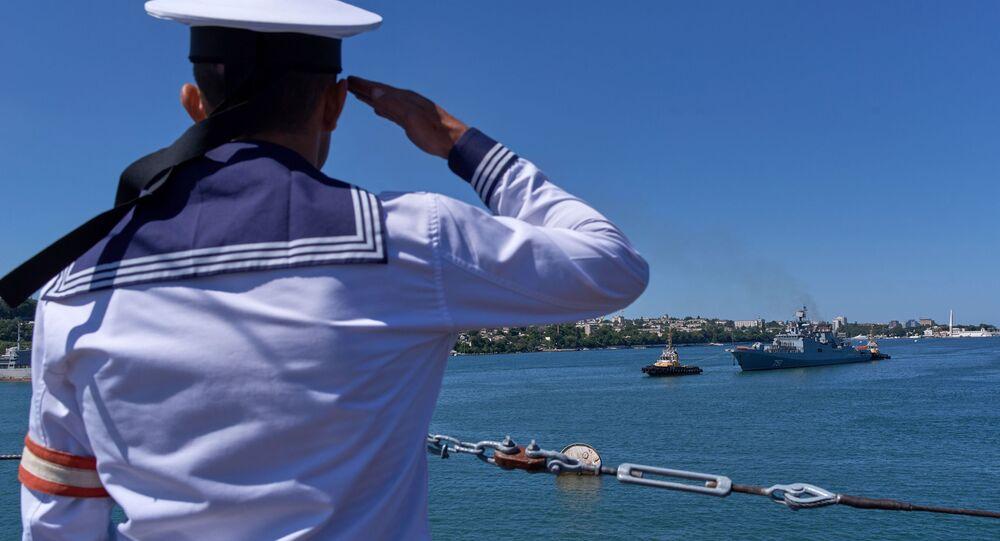 Uroczyste powitanie fregaty Admirał Essen, która wróciła z Syrii po wypełnieniu swojej misji.