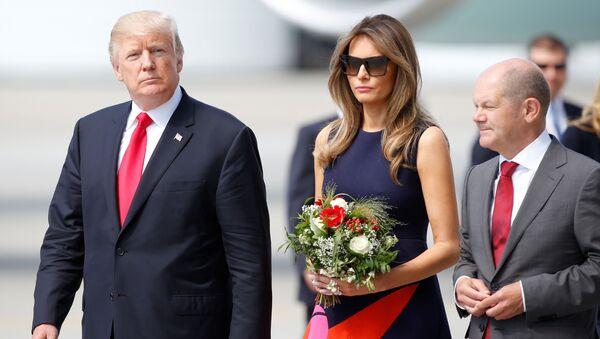 Prezydent USA Donald Trump z żoną - Sputnik Polska