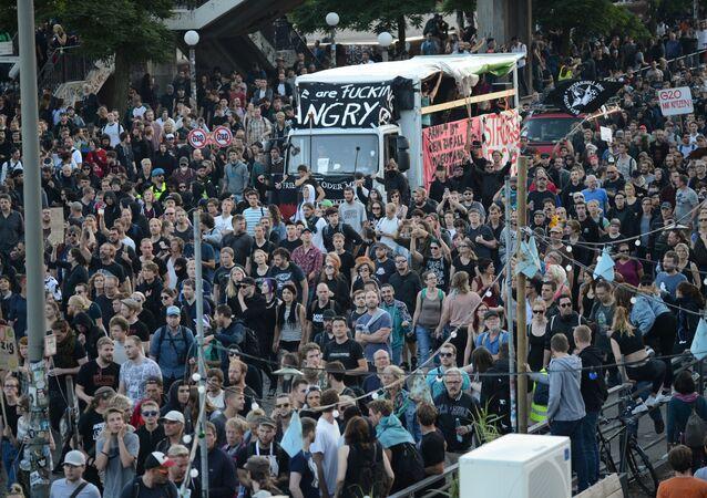 Protesty w Hamburgu