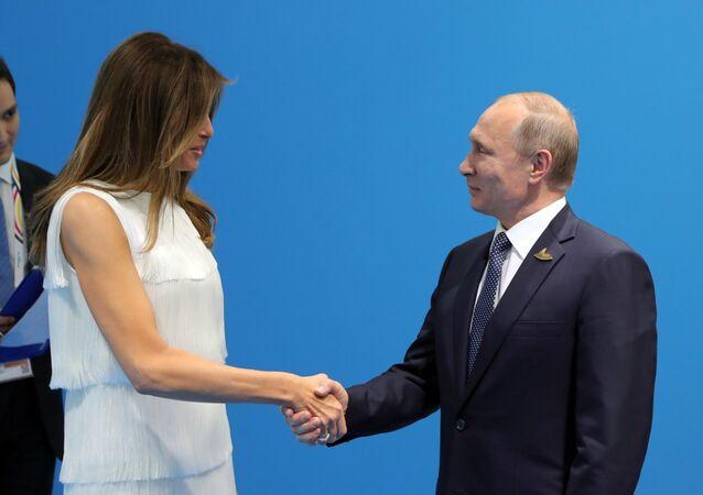 Władimir Putin i Melania Trump