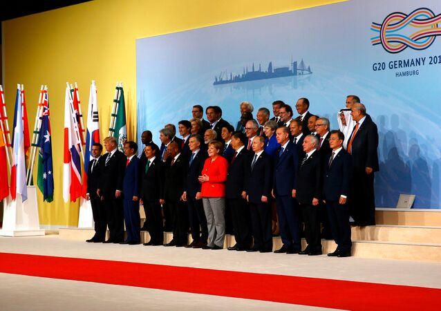 Liderzy G20 w Hamburgu