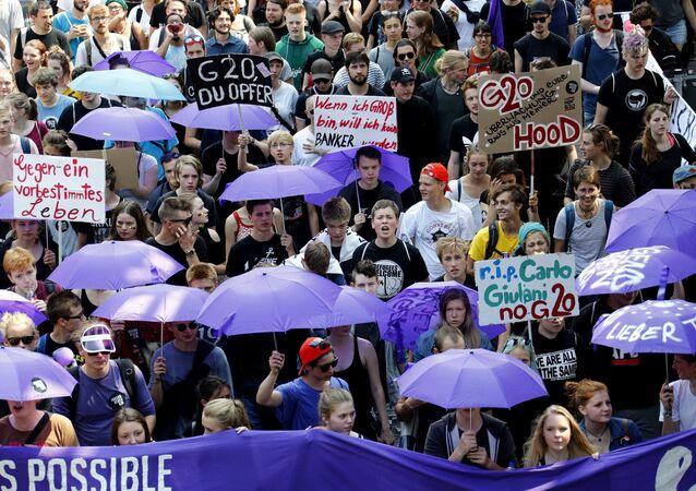 Demonstracja w Hamburgu przeciwko G20