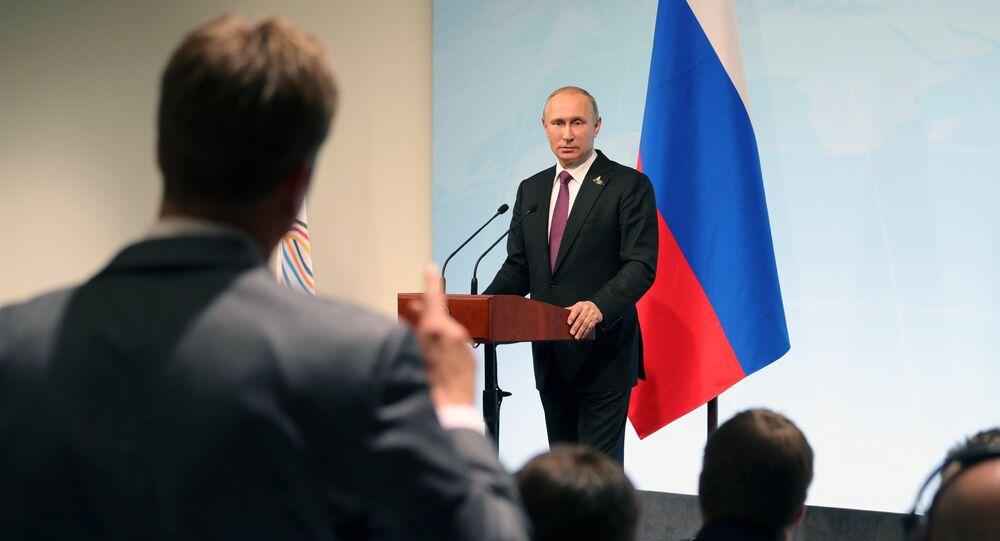 Władimir Putin podczas G20