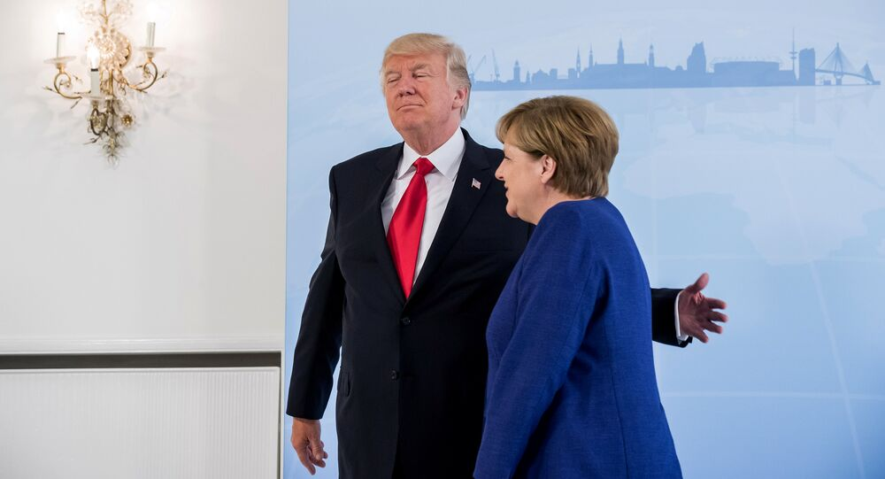 Donald Trump i Angela Merkel
