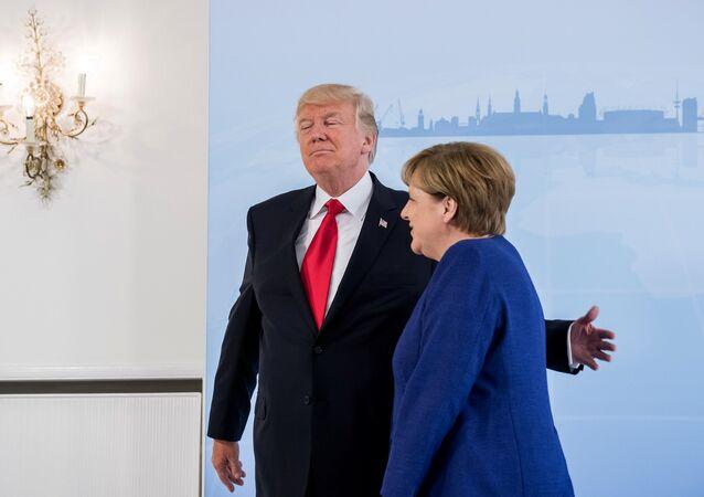 Donald Trump i Angela Merkel