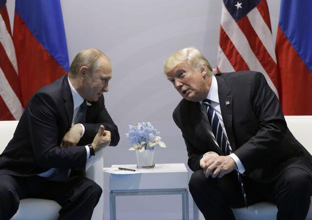 Spotkanie prezydentów Rosji i USA Władimira Putina i Donalda Trumpa na marginesie szczytu G20 w Hamburgu