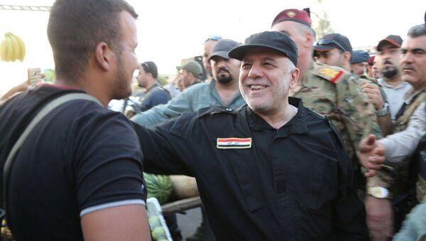 Iracki premier Haider al-Abadi w Mosulu - Sputnik Polska