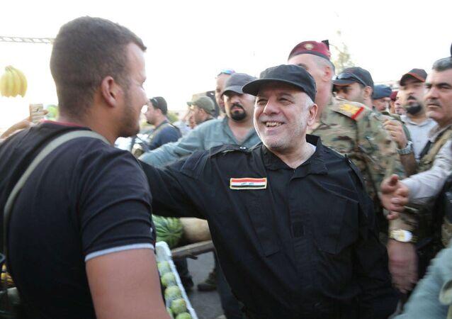 Iracki premier Haider al-Abadi w Mosulu