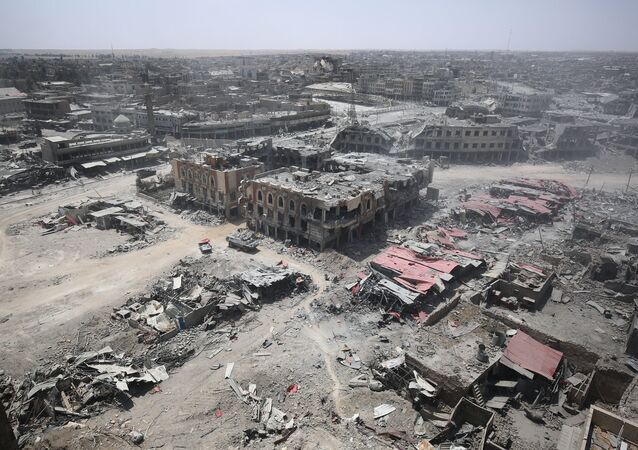 Zdjęcie zniszczonego Starego Miasta Mosul
