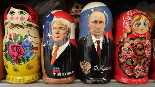 Matrioszki Donalda Trumpa i Władimira Putina - Sputnik Polska