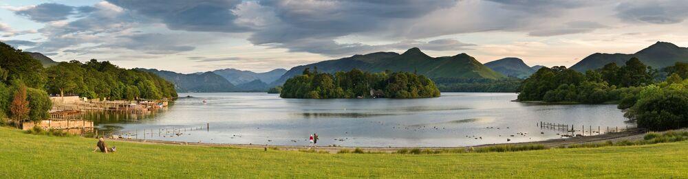 Jezioro Derwent-Uote na terytorii Lake District National Park w Wielkiej Brytanii
