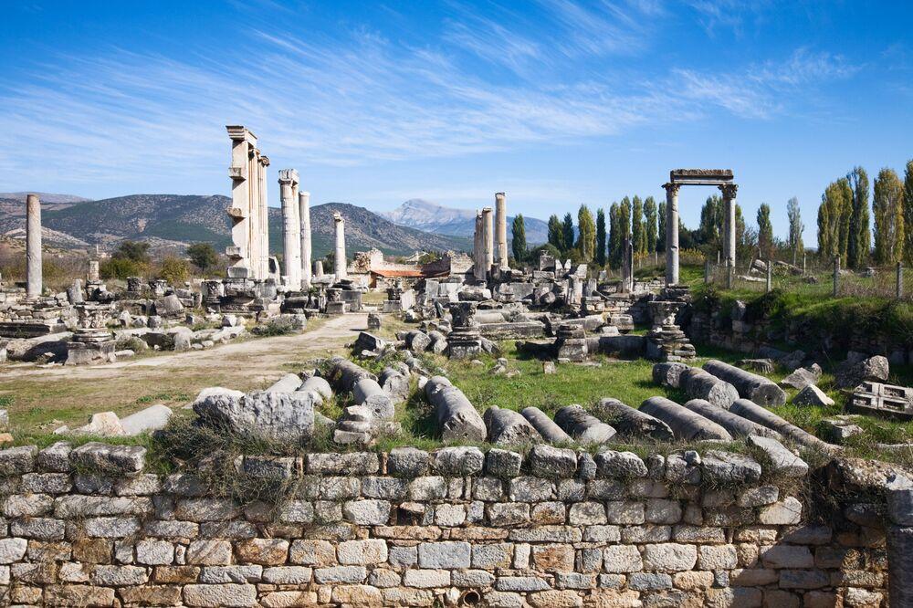 Ruiny miasta Afrodyzji w Turcji