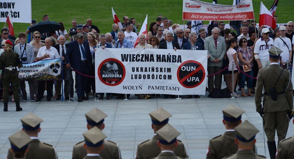 Uroczystości upamiętniające ofiary rzezi Wołyńskiej w Warszawie