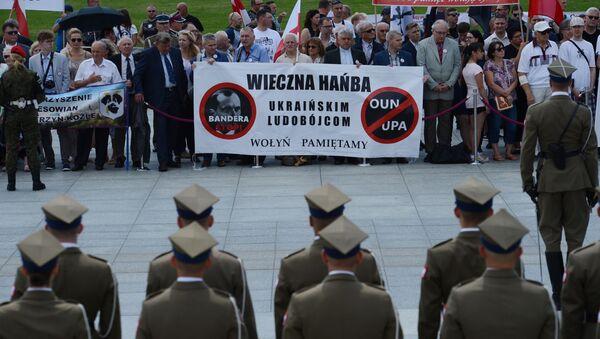 Uroczystości upamiętniające ofiary rzezi Wołyńskiej w Warszawie - Sputnik Polska