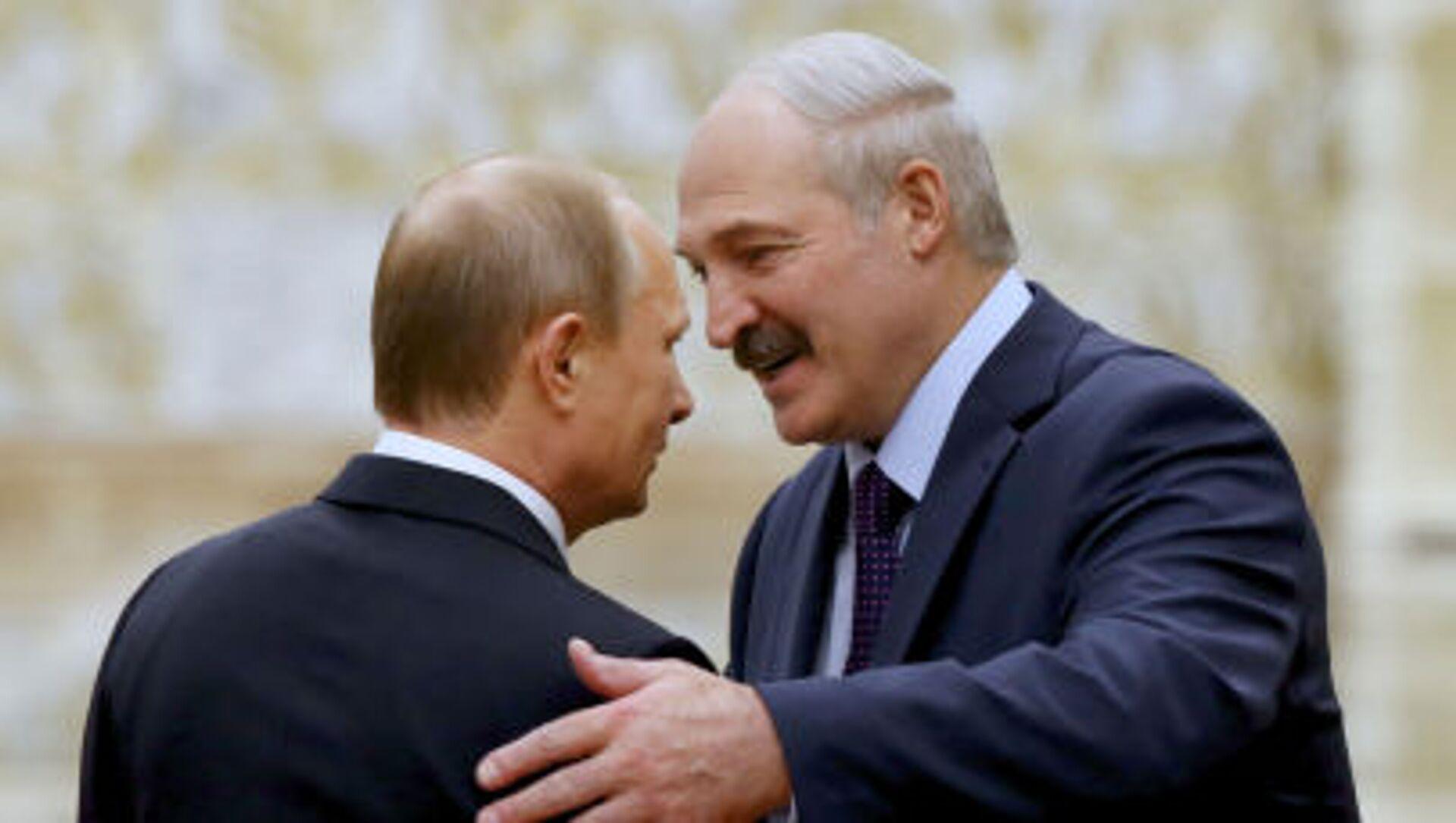 Prezydent Rosji Władimir Putin i prezydent Białorusi Alaksandr Łukaszenka w Mińsku - Sputnik Polska, 1920, 06.06.2021