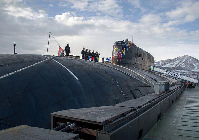 """Atomowy podwodny krążownik rakietowy Floty Oceanu Spokojnego """"Tomsk"""""""