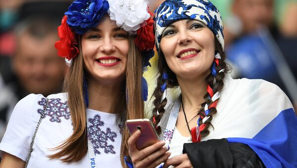 Rosjanki podcza Pucharu Konfederacji 2017 - Sputnik Polska