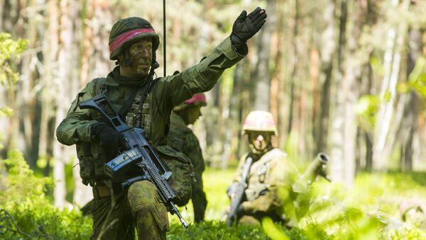 Ćwiczeń wojskowe NATO Saber Strike na Litwie. Zdjęcie archiwalne - Sputnik Polska