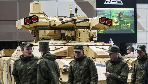 """Czołg BMPT-72 na międzynarodowym forum wojskowo-technicznym """"Armia 2016"""" - Sputnik Polska"""