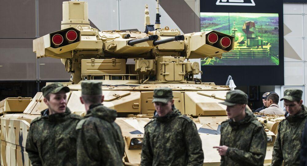 """Czołg BMPT-72 na międzynarodowym forum wojskowo-technicznym """"Armia 2016"""""""