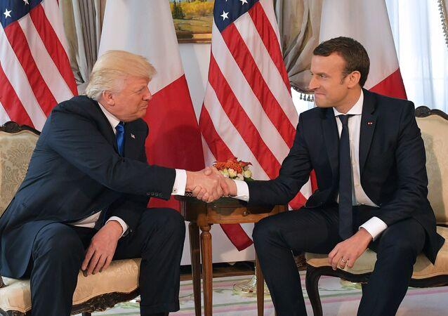 Donald Trump et Emmanuel Macron. Archive photo