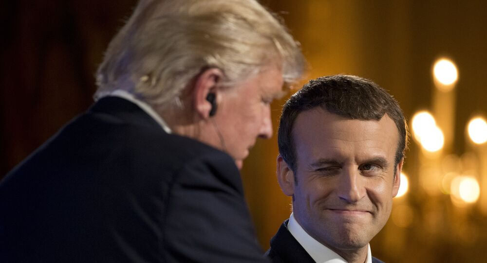 Donald Trump i Emmanuel Macron