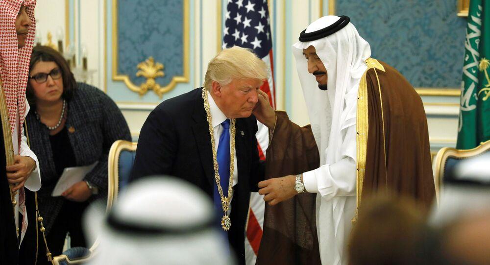 Król Arabii Saudyjskiej Salman bin Abdulaziz Al Saud i prezydent USA Donald Trump w Rijadzie, 20.05. 2017 r.