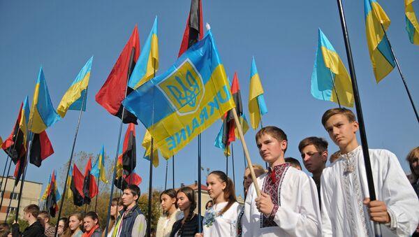 Uroczystości z okazji powstania UPA w Ukrainie - Sputnik Polska