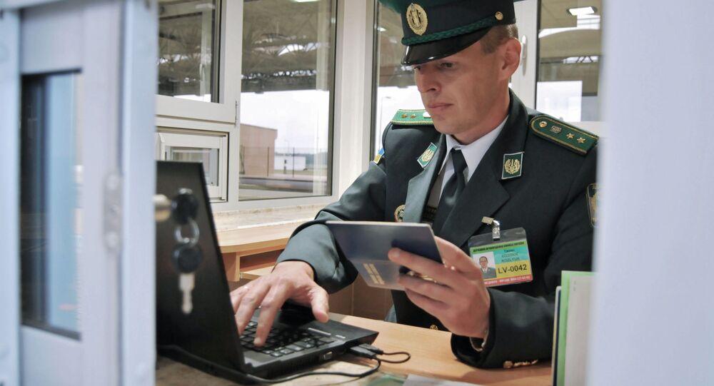 Pracownik Służby Granicznej Ukrainy