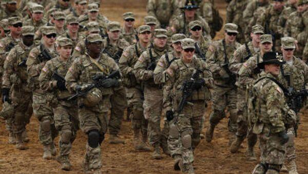 Amerykańscy żołnierze podczas ćwiczeń na Litwie - Sputnik Polska