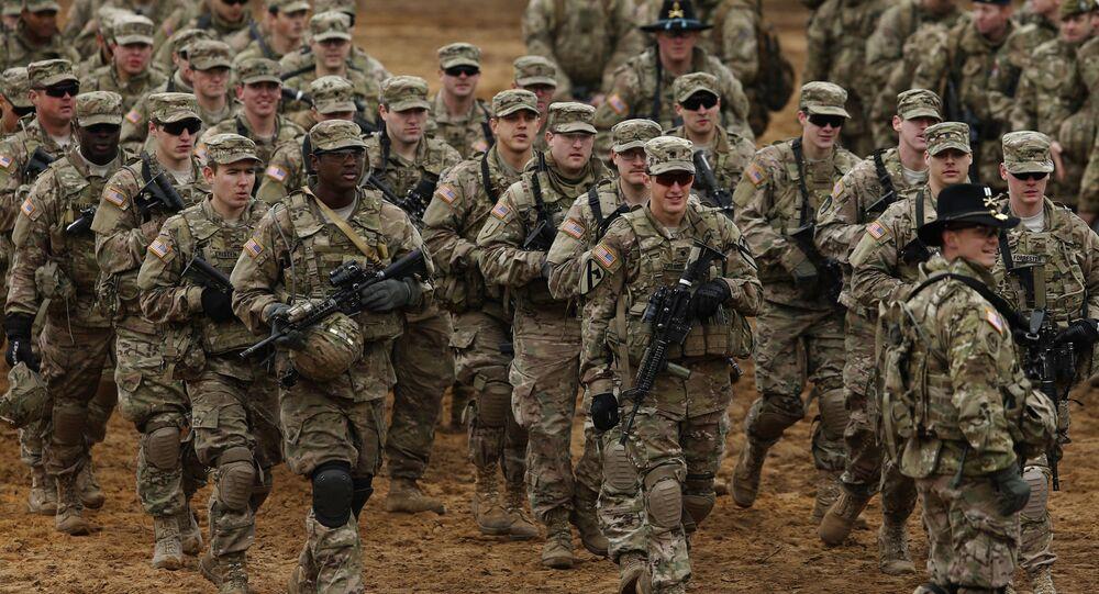 Amerykańscy żołnierze podczas ćwiczeń na Litwie