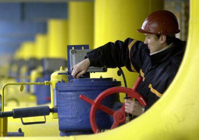 Stacja gazowa na Ukrainie