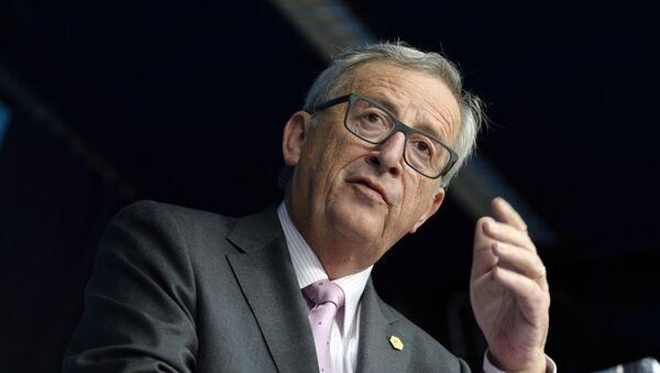 Przewodniczący Komisji Europejskiej Jean-Claude Juncker na konferencji prasowej - Sputnik Polska