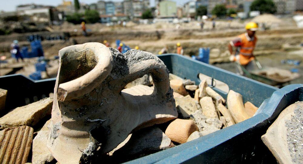 Wykopaliska archeologiczne w Turcji. Zdjęcie archiwalne