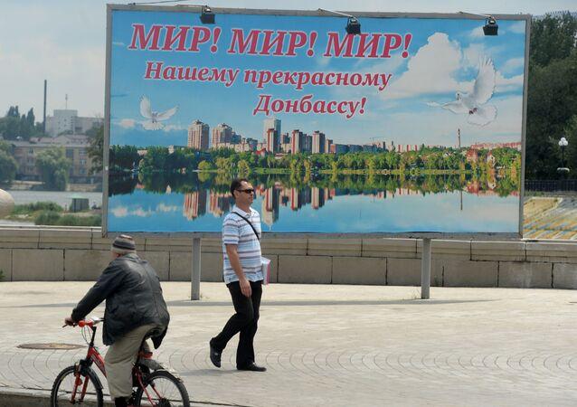 Billboard na jednej z ulic Doniecka
