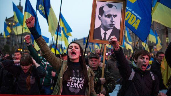 Marsz z okazji rocznicy powstania UPA - Sputnik Polska
