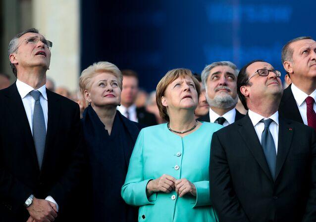 Andrzej Duda, Angela Merkel, Dalia Grybauskaite, Kolinda Grabar-Kitarovic, Tayyip Erdogan w Warszawie