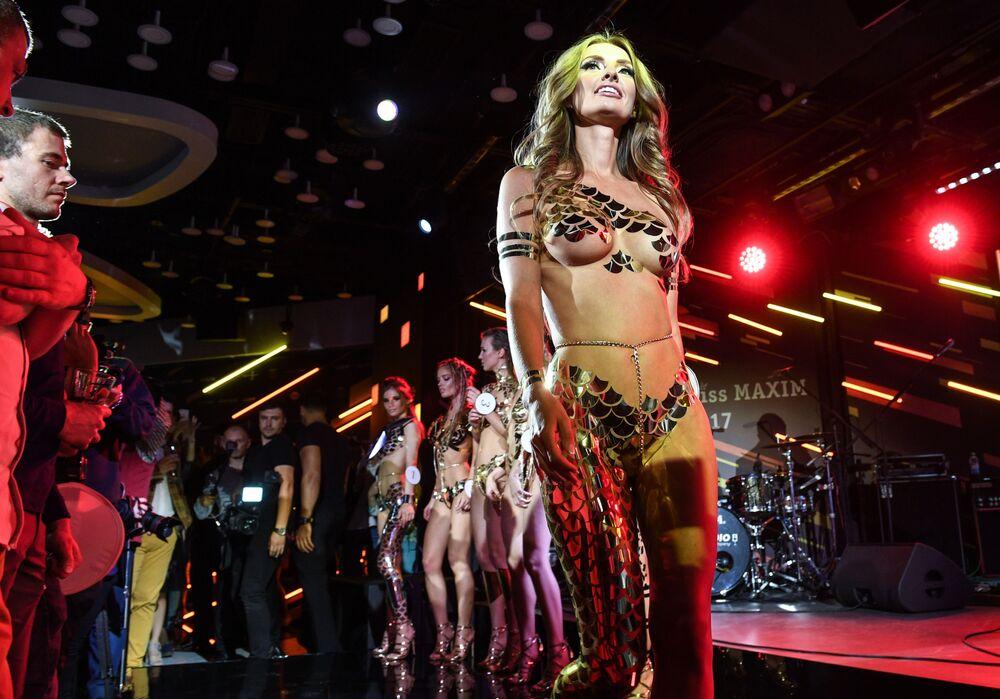 Участница конкурса красоты Miss Maxim 2017 в Москве Кристина Чебан из Читы