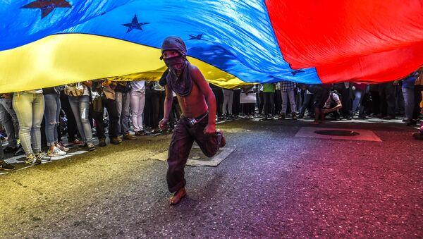 Protesty w Wenezueli - Sputnik Polska