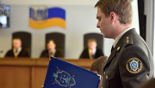 Prokurator wojskowy Prokuratury Generalnej Ukrainy Rusłan Krawczenko - Sputnik Polska