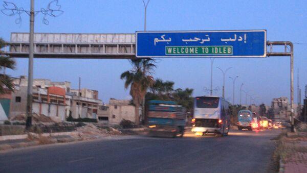 Wjazd do miasta Idlib, Syria - Sputnik Polska